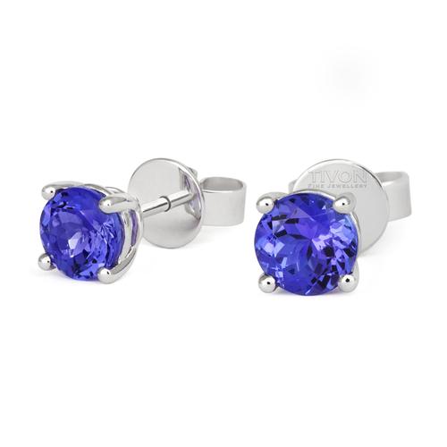 18ct White Gold Tanzanite Earrings EW-0669-TZ