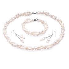 3 Piece Set of Grey Pearls