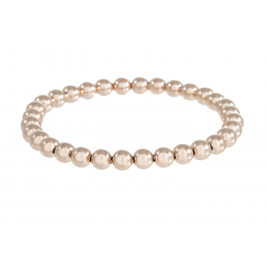 Bronzallure Rose Beaded Stretch Bracelet