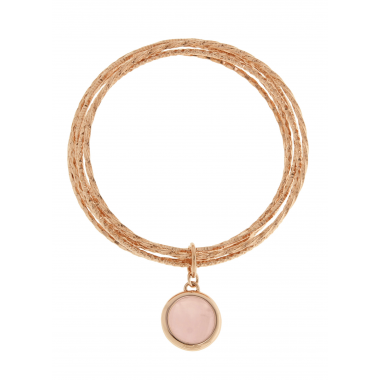 Bronzallure Bangles with Rose Quartz