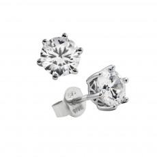 Diamonfire Silver 6 Claw Cubic Zirconia 1.00ct Stud Earrings 62/1265/1/082