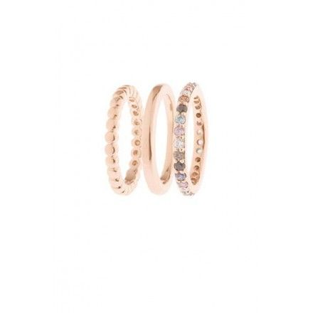 Bronzallure Multicolour Stacking rings