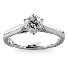 Platinum Diamond Solitaire Ring 01-11-024