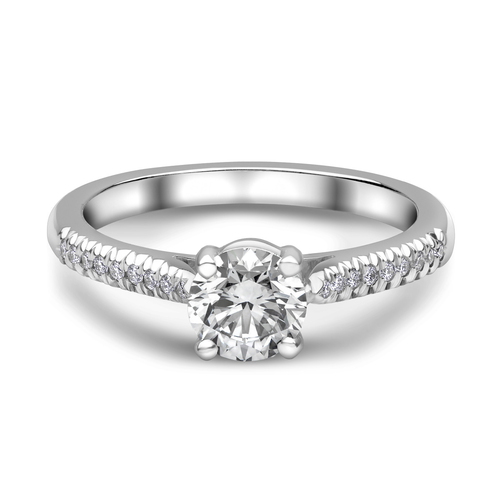 Platinum Diamond Solitaire Diamond Solders Ring 