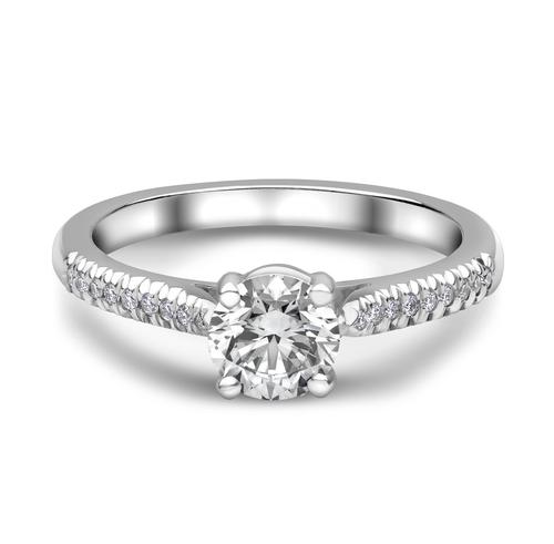 Platinum Diamond Solitaire Diamond Solders Ring  01-21-014