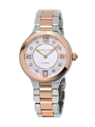 Ladies Steel and Rose Gold Frederique Constant Watch FC-306WHD3ER2B