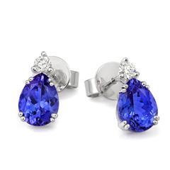 Tanzanite & diamond Stud Earrings - CEW1SPR7TZ