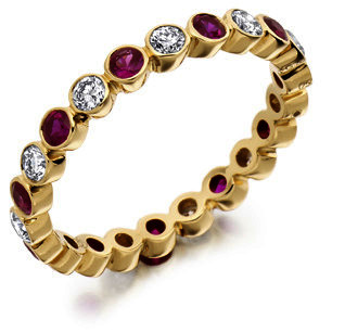 Raphael Ruby & Diamond Full Eternity Ring