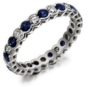 Raphael Sapphire & Diamond Full Eternity Ring