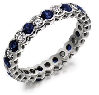 Raphael Sapphire & Diamond Full Eternity Ring