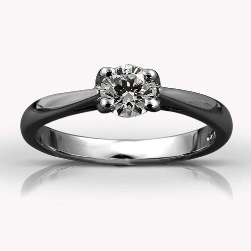 Platinum Single Stone Diamond Ring ENGAGEMENT RINGS 01-21-025