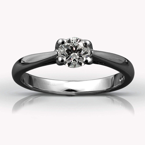 Platinum Single Stone Diamond Ring ENGAGEMENT RINGS 01-21-037